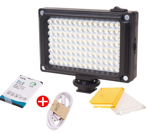 112 Mini LED Video Bi-Color Photographic Light for Camera DV Camera Light with Filters for Youtube Vlogging Wedding
