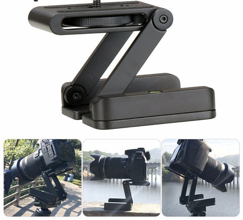 Folded Z Pan Tilt Camera Tripod Ball Head Flexible Tripod Stand Holder with Quick Release Plate for Nikon Canon Camcorder
