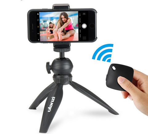Mini Tripod for Phone,Travel Tripod with Detachable Ballhead for iPhone Samsung Canon Nikon GoPro 6 Smooth Q Smooth 4 DJI