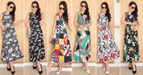 Aqua Design Pattern Abstract Print Designer Gown Dresses- Available online on Buyvel