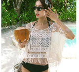 Crochet Shrug Off White Color Shrugs & Summer Jackets- Available online on Buyvel