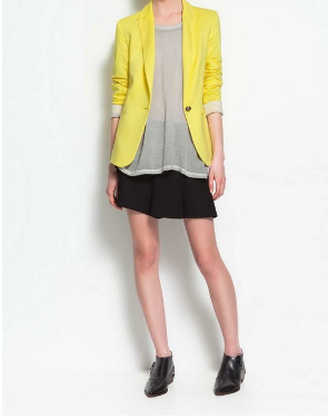 "All Season Blazers with ""Turn Up Sleeves"" - YELLOW Blazers- Available online on Buyvel"