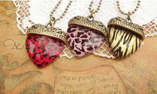 New Love Couple His and Hers Gold Heart-shape Pendent Necklace & Pendants- Buyvel