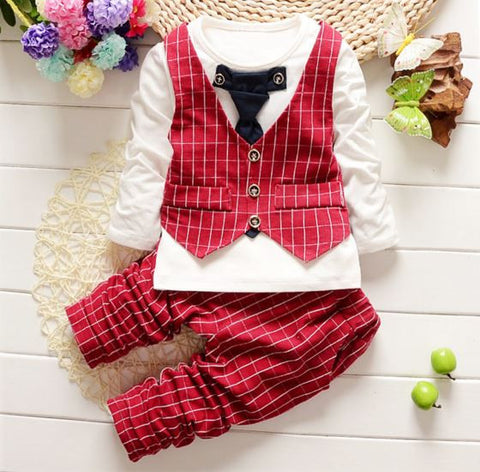Lil Boys Very Comfortable Light Weighted High Quality Two Piece Suit Boys' Suits- Available online on Buyvel