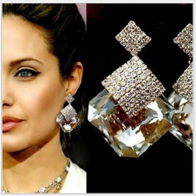 Euro Americana New classic High-end Crystal earrings Earrings- Available online on Buyvel