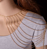 Shoulder Multi Chained Accessory Body Jewelry- Available online on Buyvel