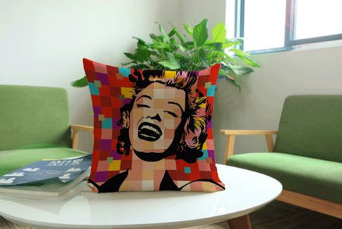 Highlighter Vintage Cushion Covers Cotton Linen Girl And Paper Print