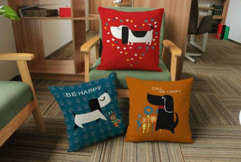 Clip Art Qute Doggy Cushions & Covers- Available online on Buyvel