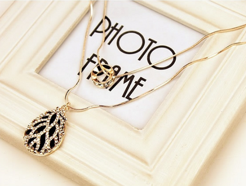 Korean Sweater Double Chain Necklace Necklace & Pendants- Available online on Buyvel