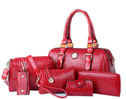 Trendy 6 Set Bag Red Set Bags- Available online on Buyvel