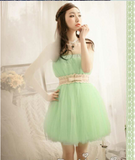 Green Ethnic Ball Gown Dress Dresses- Available online on Buyvel
