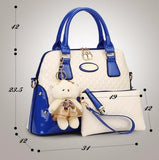 Teddy Bags Blue Handbags- Available online on Buyvel
