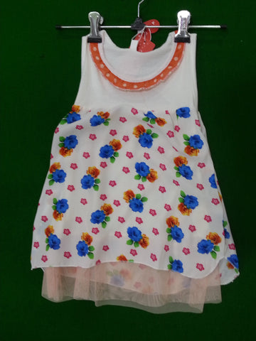 Floral Pattern Lil Girl's Frock Girl's dresses- Available online on Buyvel