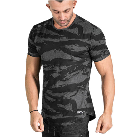 Cotton Camo Casual Camouflage Breathable Gyms Army T Shirt