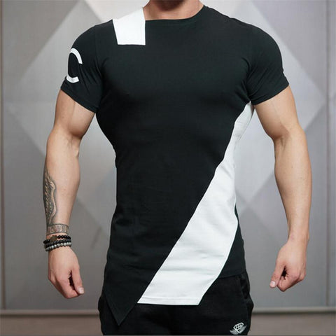 Sporting Gyms Black White Print Tshirts