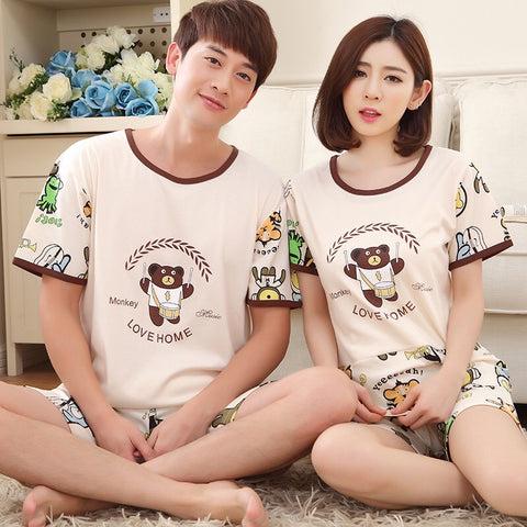 Couple Pajamas Cotton Summer Cute Night Suit M-XXXL Couple nIghtsuit Nightsuits Night wear