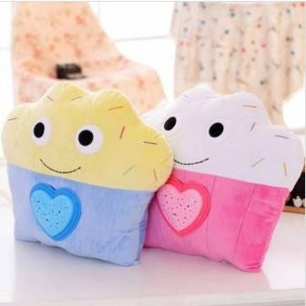 Muffin LED Projection Cushions Ultra Soft, Ultra Light, High Quality Soft Toys- Buyvel