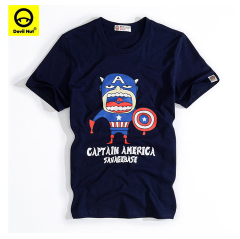Captain America men's Tshirt- Available online on Buyvel