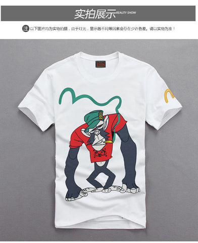 Smoking Monkey T Shirt men's Tshirt- Available online on Buyvel