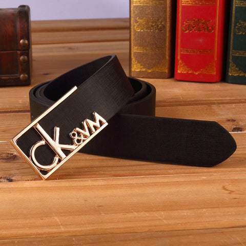 CK Men's Imported Belt Metallic Buckle Men's Belts- Available online on Buyvel