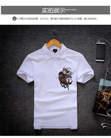 Killer Samurai Polo t shirt collar T shirt- Buyvel