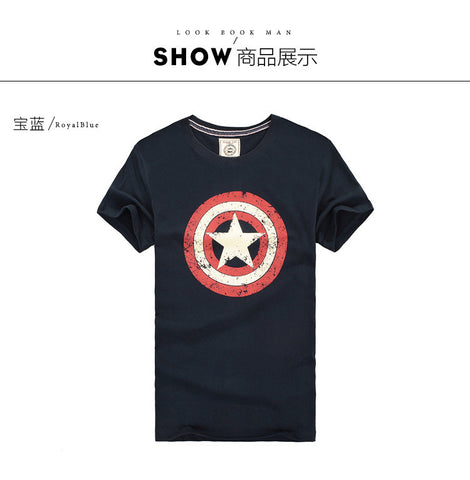 Captain America Tee men's Tshirt- Available online on Buyvel