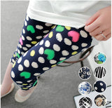 Stretchable Milk Silk Navy Blue Heart Leggings Leggings & Jeggings- Available online on Buyvel