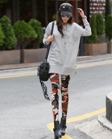 Army Leggings Orange