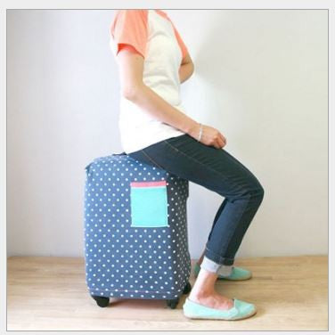 Polka Dots Trolley Covers Trolley Protector Luggage Cover Dust Cover Trolley Cover- Available online on Buyvel
