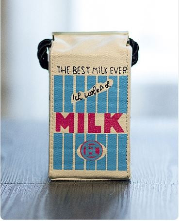 Milk Mini Canvas Shoulder Bag Whitt Creative Bags- Available online on Buyvel