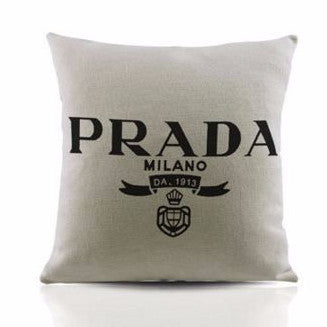 Pr*da Milano Printed Highlighter Cushion Covers - Buyvel