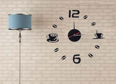 DIY Kitchen Coffee Tea Wall Clock Home Decor- Available online on Buyvel