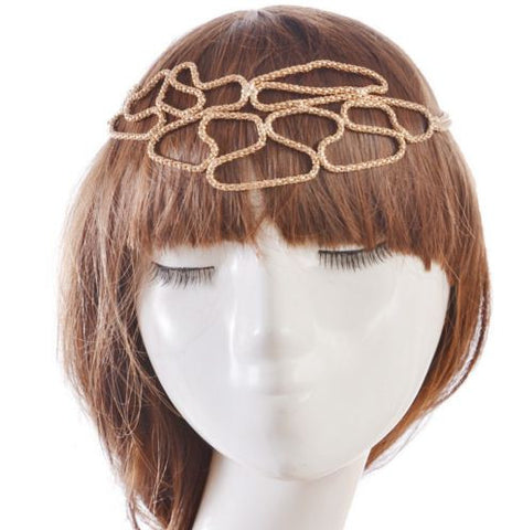 Golden Crown Like Hair Band For Women Necklace & Pendants- Available online on Buyvel