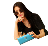 Herm*s 2016 Trendy Wallet Cum Clutch in 10 Beautiful Colors Yellow Wallets & Clutches- Available online on Buyvel
