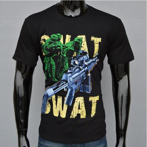 WTF 3D Print SWAT T-shirt men's Tshirt- Available online on Buyvel