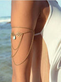 Layered Designer Armlet with Aqua Imitation turquoise Bracelets & Anklets- Available online on Buyvel