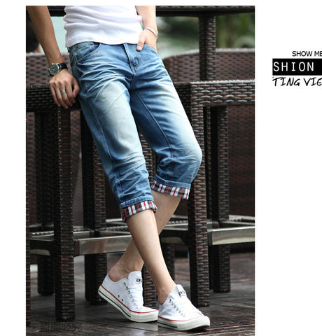 Mens Capri folding style Denim Jeans- Available online on Buyvel
