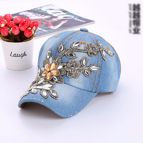 Floral Embroidered Women's Designer Imported Cap