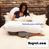 Comfortable Momvel Pregnancy Pillow for extra comfort Pregnancy Essentials- Available online on Buyvel
