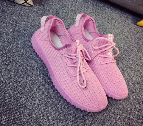 Breathable Pink Light Weight Ladies Sport Shoes Women's Footwear- Buyvel