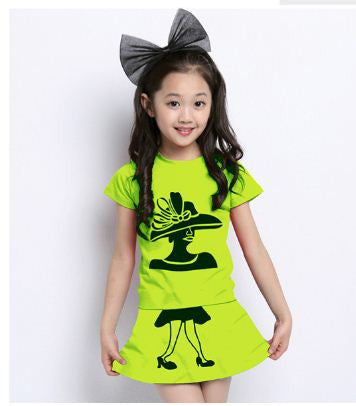 Casual Girl's T-Shirt Short Dress Kids Dress- Available online on Buyvel