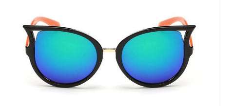 New Korean Fashion Reflective Colorful Lens Ladies Sunglasess Sunglasses- Available online on Buyvel