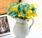 Real Touch Imported Mini Artificial Lily Wedding Flowers Bouquet Home Decor Home Decor- Available online on Buyvel