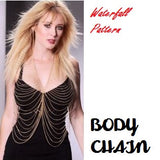 Multi-layered Body Chain Water Fall Pattern Body Jewelry- Available online on Buyvel