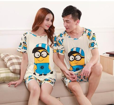 Couple Night Suit - Minion Couple Night Suit- Buyvel