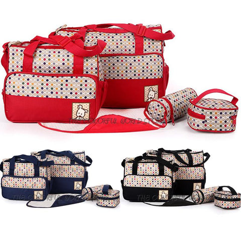 5 PCS/Set baby diaper bags Mummy Bags Maternity Baby Bag