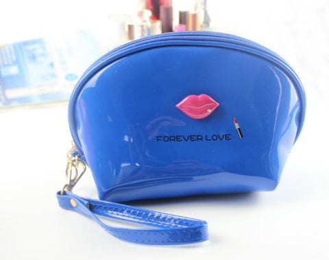 Waterproof Cosmetic Pouch Bags For Ladies' Blue Handbags- Available online on Buyvel