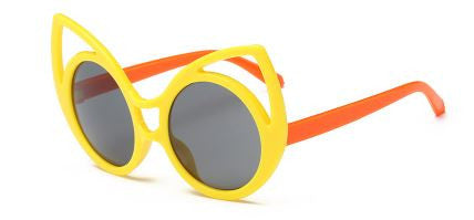 Circular Shape Cute Childern Rabbit Ear Sunglasess In Multicolor Kids Sunglasses- Buyvel