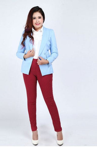 Polka Dot Print Trouser Pants Trousers & Jeans- Available online on Buyvel