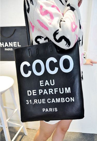 Bold Coco Shoulder Fashion Tote Bag Black Handbags- Available online on Buyvel